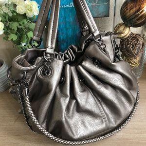 Beautiful silver hobo bag
